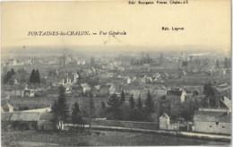 Cp FONTAINES LES CHALON 71 - 1932 - Vue Générale Edit. Lagrue - Altri Comuni