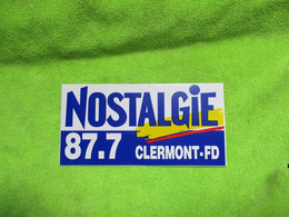 AUTOCOLLANT DE RADIO NOSTALGIE CLERMONT FERRAND 87.7 - Stickers