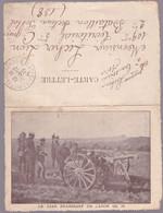 Carte-Lettre - Cachet: Saint-Pierre De Chandieu - Le Tzar Examinant Un Canon De 75 - 1915 - Letter Cards