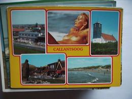 Nederland Holland Pays Bas Callantsoog Met Dame Vrouw Topless - Other