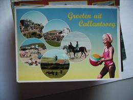 Nederland Holland Pays Bas Callantsoog Met Paarden En Lachend Kind - Other