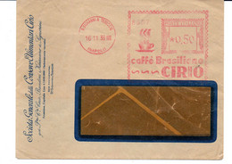 1939 EMA Affrancatura Meccanica Rossa Freistempel S.Giovanni A Teduccio (NA) Caffè Brasiliano CIRIO Tazzina Caffè - Poststempel - Freistempel