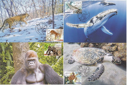 2020 MACAO/MACAU PROTECT ANIMAL(II) MC 4V - Tarjetas – Máxima