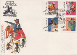 MACAU /MACAO - STAMPS - TIMBRES - FDC - 1990 - JEUX ASIATIQUES - 1ER JOUR CIRCULATION - Other