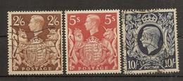 INGLATERRA  YVERT 223/226 (º) Coronación George VI  Serie Completa 1939  NL1627 - Usados