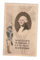 """Patrick Henry, USA Quote """"The Battle Is Not To The Strong Alone. It Is To The Vigilante- The Active Brave"""" 1914 Postcard - Historische Persönlichkeiten"""