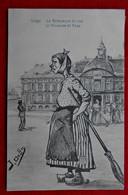 CPA 1910 Liège - Vieux Métiers - La Balayeuse De Rue - Illustration J. Ochs - Liege