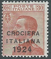 1924 REGNO CROCIERA ITALIANA 30 CENT MH * - RE11-10 - Mint/hinged