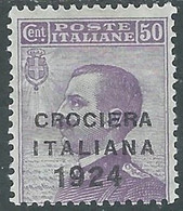 1924 REGNO CROCIERA ITALIANA 50 CENT MH * - RE11-10 - Mint/hinged
