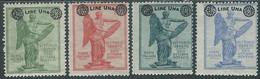 1924 REGNO SOPRASTAMPATI 4 VALORI MH * - RE7 - Mint/hinged