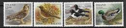 Islande 1987 N° 621/624 Neufs Oiseaux - Ungebraucht