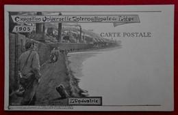 """CPA Exposition 1905 Liège - L'Industrie - Publicité """"Aux Caves Françaises"""" , Rue Féronstrée - Liege"""