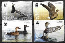 Islande 2011, N°1225/1228 Neufs WWF Oiseaux - Ungebraucht