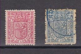 Año 1896 Edifil 230-231 Escudo De España - Ongebruikt