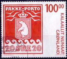 GROENLAND 2007 100kr Pakke-Porto GB-USED - Gebraucht