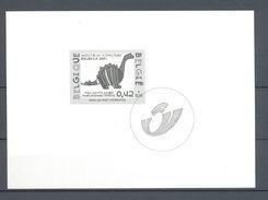 GCA 7 BELGICA  ZWART  WIT VELLETJE 2002 - Black-and-white Panes