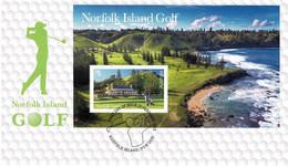 Norfolk Island 2018 Golf $5  Minisheet FDC - Norfolk Island
