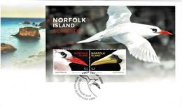 Norfolk Island 2016 Seabirds Minisheet FDC - Norfolk Island