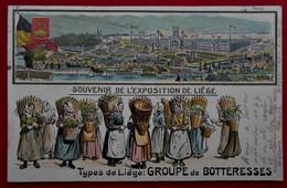 CPA Gaufrée1905 Souvenir De L'Exposition De Liège - Groupe De Botteresses - Liege