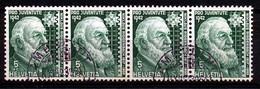 """HELVETIA - Mi Nr 412 (strook Van 4) - """"AMBULANT 3854"""" - (ref. 3156) - Used Stamps"""