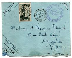 Enveloppe / Maroc / De Casablanca  / Pour Decazeville / 21-7-1941 / Poste Météorologique - Storia Postale