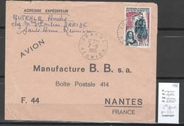 Reunion - Lettre SAINTE ANNE - 1966 - Cachet Pointillé - Storia Postale