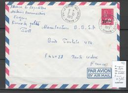 Reunion - Lettre LA RIVIERE DES GALETS - 1973 - Storia Postale