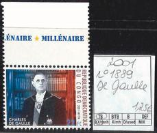 D - [851604]TB//**/Mnh-RD Congo 2001 - N° 1889, Bdf, De Gaulle (Général), Célébrité, SNC - Nuovi