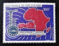 UNION AFRICAINE ET MALGACHE DES POSTES ET TELECOMS 1967 - NEUF ** - YT PA 38 - MI 318 - Ivory Coast (1960-...)