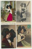 Lot De 6 Cartes Alsace - Fantaisie - Folklore - Costumes - Coiffes - Zonder Classificatie