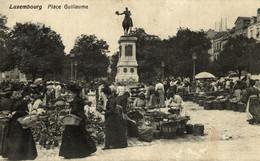 2,30€ - LUXEMBOURG - VILLE, Place Guillaume, Un Jour De Marché - 1909 - Luxembourg - Ville