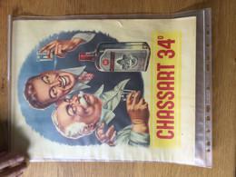 Affiche Publicitaire Pour Chassart 34° (1949)  29x38,5cm - Afiches