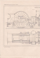 CHEMIN DE FER (LOCOMOTIVES ET LOCOMOTIVES ROUTIERES ) LOCOMOTIVE PAR M.SAINT DIZIER A VOIR !!! REF 70829 - Other Plans