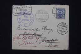 LUXEMBOURG - Enveloppe De Luxembourg Pour La Suisse En 1915 Et Redirigé Vers La France  - L 94985 - 1906 Willem IV
