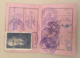 Szabadka Subotica -  Railway Membership Ticket 1959 -  Yugoslavia - Europe