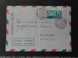 Busta Viaggiata Con Volo Speciale Del 3/9/58 -Visita Gronchi In Brasile - 1946-60: Marcofilie