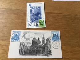 Belgique : 2 Souvenirs Philatéliques Sur Tournai (1971 Et 1998) - Cartas
