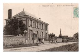CPA Ed Landois  Presnoy  Ecole Et Route De Ladon - Altri Comuni