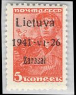 MiNr.1a1 Xx  Besetzg.WKII. Litauen Zargrad - Occupation 1938-45