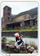 CPM ANDORRE  CHAPELLE ST JOAN DE CASELLES + FLAMME POSTALE CANET EN ROUSSILLON 23/09/1985 VOIR SCAN - Andorra