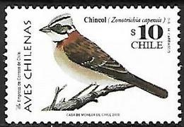 Chili - MNH ** 1998 :  Rufous-collared Sparrow  -  Zonotrichia Capensis - Sperlingsvögel & Singvögel