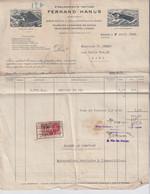GENT 136  ETABLISEMENTS TEXTILES  FERNAND HANUS - 1900 – 1949