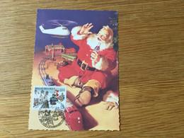 Belgique : N°2581 Père Noël Sur Carte Maximum Coca Cola - Storia Postale