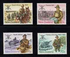 New Zealand 1984 Military History Set Of 4 MNH - Ungebraucht