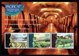 New Zealand 1997 PACIFIC 97 World Exhibition San Francisco Wine Minisheet MNH - Ungebraucht