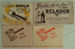 Lot De 4 Buvard S PUB PEINTURE RIPOLIN SUPER EMAIL E.B.A. ECLADOR ILLUSTRATEUR - Paints