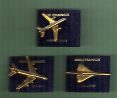 AVION *** AIR FRANCE *** Lot De 3 Pin's Differents *** N°1 *** 5046 - Airplanes