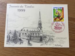 France : N°3225 Astérix Sur Carte Souvenir (cachet Postal Rouge) - Cartas