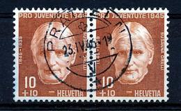 """HELVETIA - Mi Nr 466 (paar/paire )- """"PRATTELN"""" - (ref. 3180) - Used Stamps"""