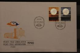 Finnland, Hologramm Telecommunication 1990, FDC - Holograms